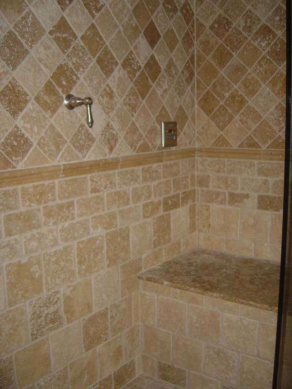 Dynamic construction tile work commercial and for Bathroom floor ceramic tile designs